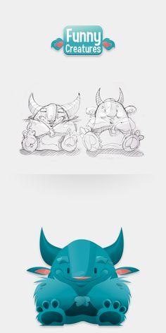 Funny_Creatures by Małgorzata Sadza, via Behance