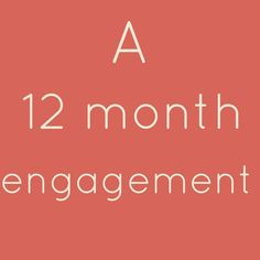 A 12 Month Engagement – Wedding Planning Checklist