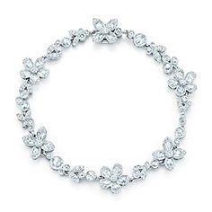 Tiffany Garden flower bracelet in platinum with diamonds.