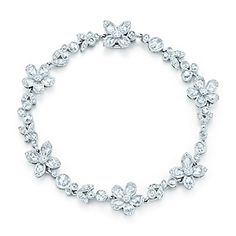 Tiffany Garden flower bracelet in platinum with diamonds - this would be soooooooo perfect for my wedding...if it didn't have the $28K price tag ;)