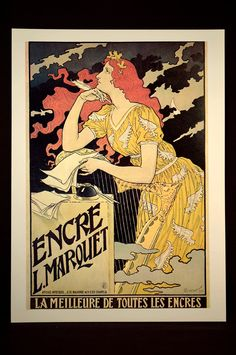 French Advertising Poster Paris Ink Ad Print Wall Art Writing