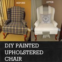 How To Paint An Upholstered Chair   Rustic Crafts & Chic Decor - this totally blew my mind and i want to do it right now. Paint Furniture, Upholstered Furniture, Furniture Projects, Furniture Makeover, Decoupage Furniture, Chair Makeover, Furniture Design, Paint Upholstery, Rustic Chair