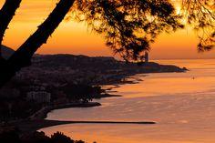 Coucher du soleil à Malaga…Malaga Ciudad Genial