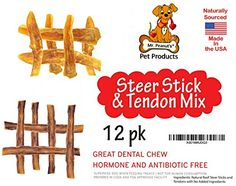 Mr Peanuts Naturals Steer Sticks and Beef Tendons 12 Piece Combo Pak Naturally Sourced  Made in the USA Hormone  Antibiotic Free Produced Wholly in an FDA and USDA Approved Facility >>> You can get additional details at the image link.