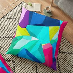 #crystal #stone #multicolor #colorful #crystalpattern #brightbackground #simplepattern #gems #geometrical #forms #shapes #floorpillow #housedecor #interior #findyourthing