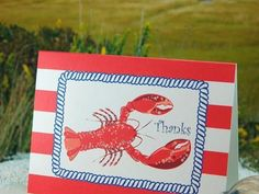 Nautical Lobster Thank You Cards | Green Bride Guide