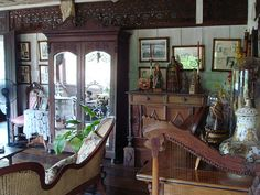 Still another view of the sala Filipino House, Asian Interior Design, Enchanted Home, Oriental Fashion, Cebu, Pinoy, Asian Style, Old Houses, Philippines
