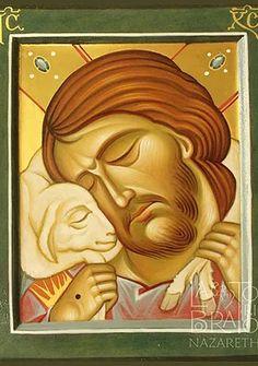 Laboratorio Nazareth | Opere Good Shepard, The Good Shepherd, Byzantine Icons, Byzantine Art, Religious Icons, Religious Art, Jesus Art, Jesus Christ, Christ Pantocrator