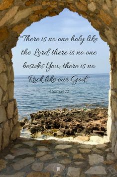 Bible Verses:There is no one holy like the Lord! There is no Rock like our God! Read more encouraging Bible verses on our website! Encouraging Bible Verses, Bible Encouragement, Biblical Quotes, Favorite Bible Verses, Bible Verses On Faith, Scripture Images, Bible Verses Quotes, Bible Scriptures, Healing Scriptures