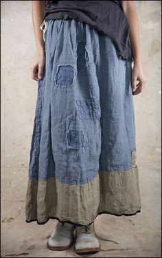 Celestyna Skirt 066 Indigo