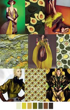 Today we have AVOCADO BRAVADO - a mix of yellow, green and brown, but some specific shades to be matching: a pale mint, chartreuse, mustard, olive, forest green and 2 browns. Enjoy <3