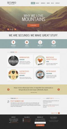webdesign, web interfac, web design, templat librari, secundo theme