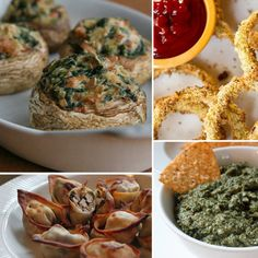 12 Guilt Free Appetizers- definitely trying the onion dip!