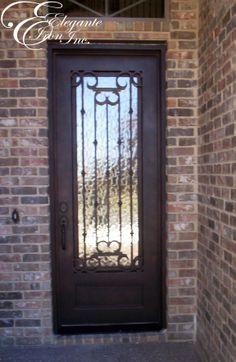 New Wrought Iron Single Entry Doors
