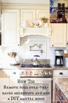 DIY Mantel Hood Tutorial - this is actually pretty neat.  I think I'd rather have a range hood though... #RangeHoods