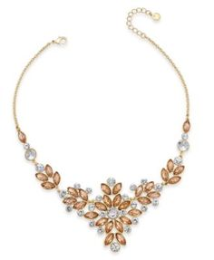 Charter Club Gold-Tone Multi-Crystal Statement Necklace, Created for Macy's Fashion Jewelry Necklaces, Jewelry Watches, Women Jewelry, Review Fashion, All Fashion, Crystal Statement Necklace, Gold Necklace, Black Friday Specials, Designer Earrings