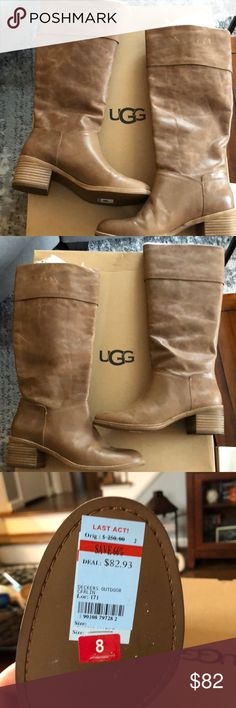 UGG W Carlin Brown Boots/ Women's 8 Women's UGG Brown W Carlin Knee High Boots. Originally $250 and selling them for $82. Brand New! UGG Shoes Winter & Rain Boots