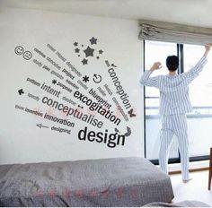 24 欣家居 创意文字 个性壁纸 办公室装饰墙贴 文化背景墙贴纸 特价-淘宝网