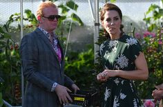 Kate, with Chris Evans, tried a cherry tomato from the BBC Radio 2 garden at the Chelsea Flower Show.