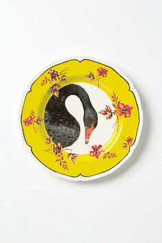 Nature Table Plate, Swan £16.00 (http://www.anthropologie.eu)