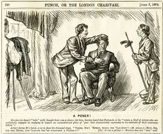This cartoon from 1873 will likely not be funny to modern sensibilities. The punchline is long and convoluted but it shows a photographer and assistant preparing a nervous subject to be photographed. The head stand/posing stand is being moved in to place. Is he dead? No, dead people are not nervous.