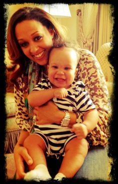 So cute! Tia Mowry & baby Cree.