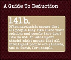 """A Guide To Deduction, Submitted by: bloodonmytypewriterkeys """"The..."""