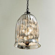 Antique Mirror Bell Pendant Lantern