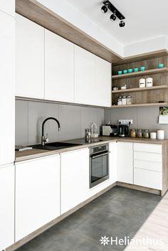 Helianthus - słoneczne kuchnie Kitchen Room Design, Kitchen Cabinet Design, Modern Kitchen Design, Home Decor Kitchen, Interior Design Kitchen, Home Kitchens, Small Apartment Kitchen, Cocina Diy, Modern Kitchen Cabinets