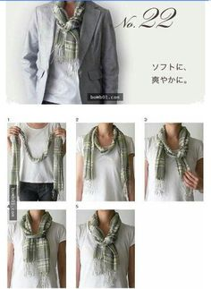 Tie a scarf How To Wear A Blanket Scarf, Ways To Wear A Scarf, Diy Scarf, How To Wear Scarves, Fall Fashion Trends, Winter Fashion, Fall Outfits, Casual Outfits, Hijab Fashion