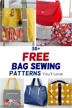 Duffle Bag Patterns, Diaper Bag Patterns, Messenger Bag Patterns, Handbag Patterns, Tote Pattern, Bag Patterns To Sew, Sewing Patterns, Sewing Aprons, Fabric Bags