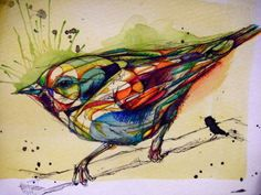 Stained Glass Birdie