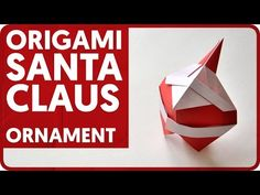 In this tutorial I will show how to fold an origami Santa Claus ornament designed by Hideo Komatsu. This is a great christmas tree decoration that you can do right now :) Shop with origami paper and Origami Xmas Ornaments, Christmas Origami, Santa Ornaments, Ornaments Design, Christmas Deco, Christmas Snowman, Origami And Kirigami, Origami Folding, Origami Santa Claus