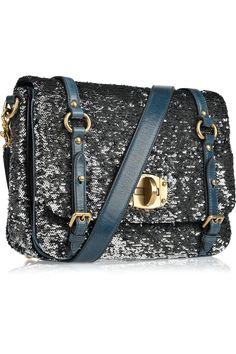 Miu Miu Sequin-embellished leather bag!!!