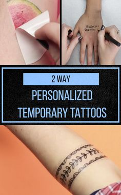 These DIY tattoos would be a cute idea for a wedding, birthday party, bridal/baby shower!