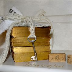 The key to my heart | The key to my heart... old books with … | Flickr