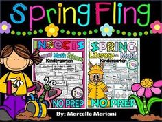 "This ""Spring Fling"" bundle contains my Spring NO Prep package AND my INSECTS No Prep Package. #Spring 