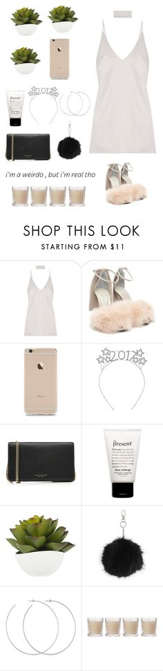 """""""Happy late new year lol"""" by joycereina ❤ liked on Polyvore featuring Alexander Wang, Marc Jacobs, philosophy, Topshop, Allison Bryan and Shabby Chic"""