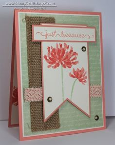 Too Kind Just Because Card - Stampin' Up!