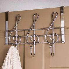 Treble Clef Hooks Metal Door Hanger at The Music Stand – Coat Hanger Design Band Nerd, Bathroom Door Hooks, Music Bedroom, Music Stand, Treble Clef, Coat Hanger, Jacket Hanger, Door Hangers, Hanger Hooks