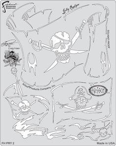 artool freehand airbrush templates piracy jolly rodger