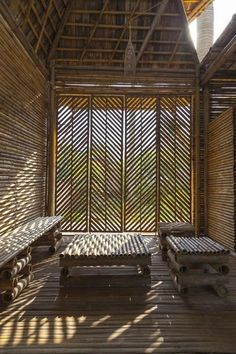 50 Breathtaking Bamboo House Designs0351 Bamboo Architecture, Architecture Details, Interior Architecture, Interior And Exterior, Interior Design, Vernacular Architecture, Interior Plants, Ancient Architecture, Sustainable Architecture