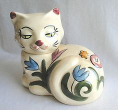 White Kitty Cookie Jar