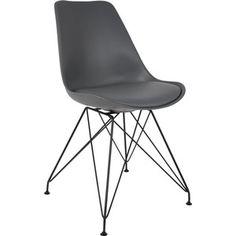 Gezien op beslist.nl: Chair Ozzy Grey - Stoel - Grijs - Set van twee