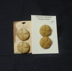 Set of 4 Vintage La Mode Tan Shank Buttons by VictorianWardrobe, $12.00