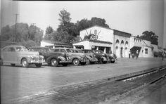 SANTA FE TRAIN DEPOT, FULLERTON,CALIFORNIA ca 1930s