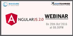 """#AngularJS #Webinar by #XoomTrainings on #Thursday, #Oct 20th 2016 at 8:30 PM. Contact us for more information:#91-40-183355/7093502091 and here is the link to Registration: """"https://attendee.gotowebinar.com/register/5099901444788653828 """""""