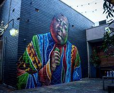 Stunning new mural from Australian artist @scottnagyartist in Sydney
