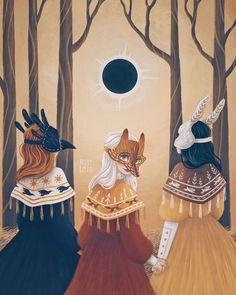 "Mori Raito on Instagram: ""The Omen. Day 1 of #dreamweek2020 . . . #art #instaartwork #artist #draw #digitalart #paint #illustrationartists #dailysketch #wacom…"" Illustrations, Illustration Artists, Character Illustration, The Omen, Pencil Art Drawings, Cute Drawings, Wicca, Witch Art, Celtic Art"