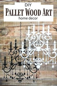 Here's a fun way to create unique rustic wall art from old pallet wood and a stencil. I'll even show you how to add crystals for a 3-D effect. The full tutorial is on my blog now! Easy DIY home decor on a budget. #dododsondesigns #palletproject #woodsigns #palletart #diyhomedecor
